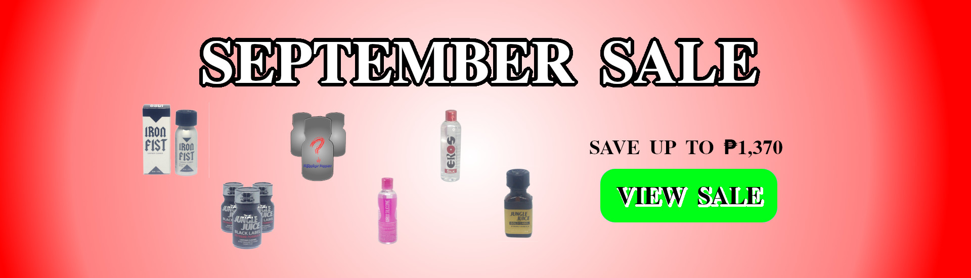 September Sale - Save up to 1370php on Poppers and Lube