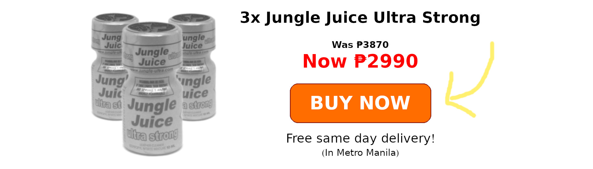 3x Jungle Juice Ultra Strong Promo